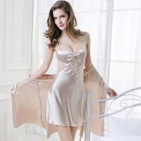 春夏季睡衣女家居服套装短袖蕾丝 露背丝质吊带睡裙XC 均码(建议80一110斤)