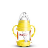 荷兰玻璃奶瓶晶钻防摔 婴幼儿宽口径带手柄180ML g7l