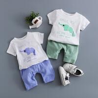 童装夏装套装0-1-2-3-4岁婴儿夏天衣服婴幼儿外出服夏季潮装