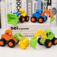 儿童挖掘机玩具车套装组合宝宝小型各类的士工程车回力惯性车男孩