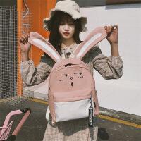 双肩包女学生韩版 校园森系复古日系原宿风ulzzang街拍少女心书包