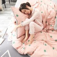 『朵洋amy』床单四件套A棉B水晶绒加厚被套床上用品北欧