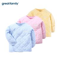 歌瑞家新生儿和袍2017冬新款婴儿夹棉和短袍男女宝宝家居上衣乐友