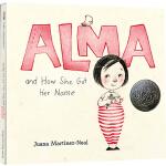 英文原版绘本 Alma and How She Got Her Name 阿尔玛和她名字的故事 2019凯迪克大奖 J