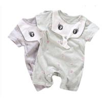 男女宝宝卡通小象爬服0-3-6-12个月新生儿短袖连体衣婴儿衣服夏装