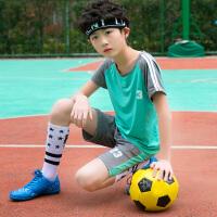 儿童运动套装男孩速干球服中大童男童短袖夏装短裤两件套