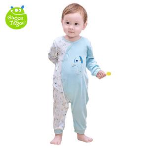 【加拿大童装低至19元】GagouTagou婴儿连体衣春秋长袖套装男女两用宝宝纯棉保暖春装