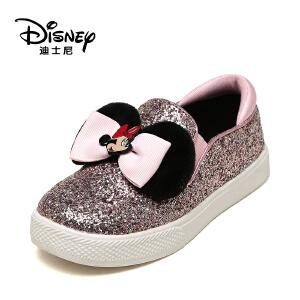 鞋柜/迪士尼春秋款乐福鞋米妮蝴蝶结女童鞋1