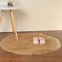 圆形地毯电脑椅子地毯梳妆台仿羊毛地垫吊篮地毯卧室地毯长毛绒 180*220cm 长方形