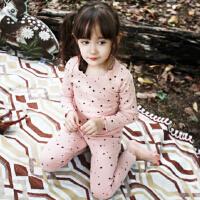 韩国童装纯棉女童保暖内衣套装2016秋冬款韩版儿童睡衣家居服秋衣