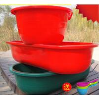 浴盆超大号加厚大人泡澡盆塑料家用浴缸小孩沐浴盆儿童洗澡桶 〈红色〉特厚长140宽70高30 厘米