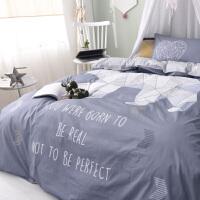 卡通三件套全棉纯棉床上用品1.2m单人儿童学生宿舍床单被套