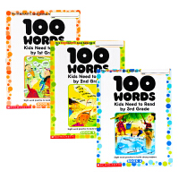 100 Words Kids Need to Read 1-2-3年级3册英文原版Scholastic English