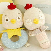 亲子手工乐乐鸡笑笑鸡练手摇铃一对 宝宝玩具diy材料包 一对鸡宝宝摇铃