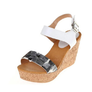达芙妮夏季女士凉鞋 夏天鞋子高跟鞋厚底坡跟松糕女鞋凉鞋