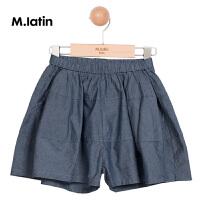 【2件2.5折:69元】商场同款马拉丁童装女童裤子夏款新款棉布短裤128417506X