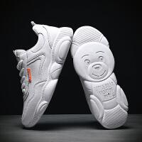 时尚新款夏季男鞋韩版潮流运动小白板鞋百搭网红小熊白色ins潮鞋