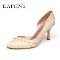 【11.24 鞋靴超级品类日】Daphne/达芙妮时尚拼色浅口尖头高跟单鞋1015101060