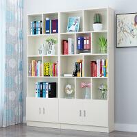 简约现代书架简易书柜书橱落地自由组合儿童置物架储物柜子带门 i6l