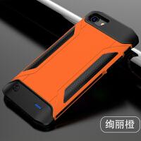 �O果iphone7背�A式充����O果6P�池Plus8三防摔XR�o�移�与�源 6/6s【�k��橙】 4.7寸大容量