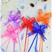 婚庆结婚用品圣诞蝴蝶结包装礼品袋抽花节庆拉花装饰品 15mm玫瑰混色