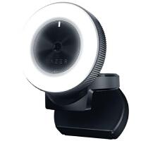 雷蛇(Razer)清姬摄像头 环形补光灯主播摄像头 直播摄像头 全向型麦克风,1080P高清流畅直播,81.6度广角环