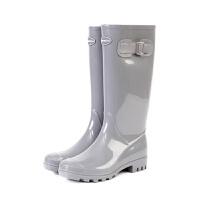 英伦时尚胶鞋水鞋女可爱雨靴高筒水靴女士雨鞋
