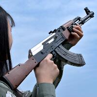 电动连发AK47下供弹仿真手抢水蛋CS儿童男孩玩具枪可发射M4
