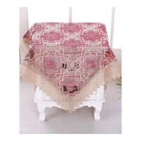 玻璃纱绣花台布餐桌布床头柜罩电脑罩多用巾圆桌布・ 一枝梅 直径180厘米圆
