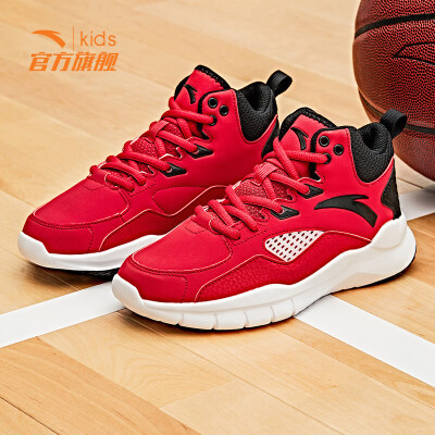 安踏儿童运动鞋男童鞋子2019新款中大童球鞋小学生休闲篮球鞋