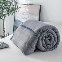 高品质北欧毛毯被子加厚珊瑚绒毯子秋冬季保暖法兰绒床单 200x230cm 5斤