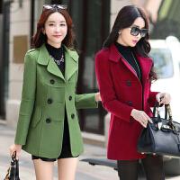 中年女装冬季外套韩版大码女装30-40岁妈妈装毛呢子上衣短款褂子