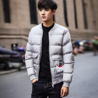 冬季男士休闲潮流棉衣加肥加大码学生青少年冬装上衣加厚外套