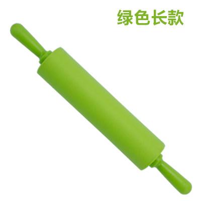 硅胶擀面棍擀面杖饼干面团面条面杆饺子皮多色可选烘焙工具   g3i 默认发:蓝色长款一个(其它颜色备注)