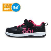361度童鞋女童休闲板鞋18秋季新款儿童运动鞋学生鞋子魔术贴N81832702