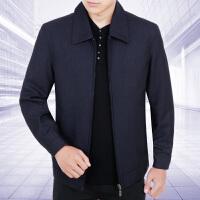 秋季新款中老年男士长袖薄款时尚夹克翻领拉链商务男装