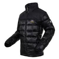 秋冬男款户外羽绒服 登山羽绒服加厚防风保暖外套 黑色 XL