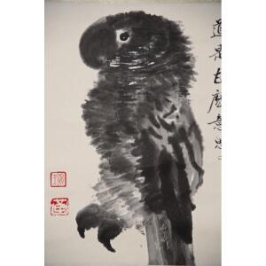L黄永玉 益鸟  34*32