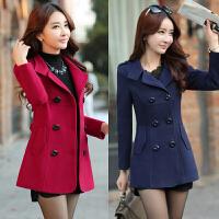 中年女装外套年轻妈妈秋冬上衣短款中老年20-30-40岁女士毛呢外套