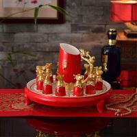 十二生肖组合酒杯酒具陶瓷工艺品珐琅彩领导长辈生日礼物实用