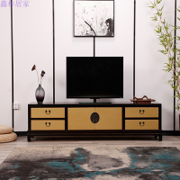 设计新中式家具新古典电视柜实木新中式电视柜视听柜 整装