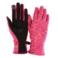 探路者秋冬季户外女式耐磨防滑抓绒弹力保暖薄触屏手套HELE92026 X