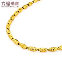 六福珠宝黄金项链男橄榄珠足金路路通转运珠项链 B01TBGN0010