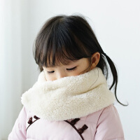中国风男女童围脖围巾2017冬季新款儿童宝宝雪貂绒月牙形毛领