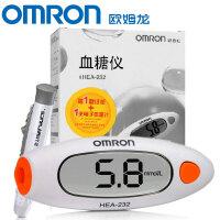 【25片试纸+电子体温计一支】欧姆龙(OMRON)家用血糖仪HEA-232 血糖试纸HEA-STP30(新老包装*发)