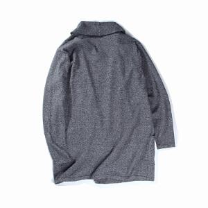 【限时抢购到手价:120元】AMAPO潮牌大码男装 潮胖子加肥加大码纯色长款男士开衫毛衣针织衫