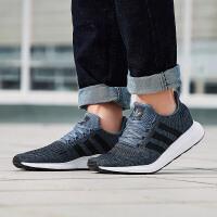 adidas阿迪达斯三叶草男子休闲鞋2018新款SWIFT RUN运动鞋CQ2114