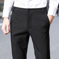 西裤男修身型黑色西装裤商务休闲西服长裤子男小脚正装裤薄款 黑色