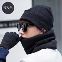帽子男冬韩版潮加绒加厚中老年人帽针织毛线帽骑车帽青年保暖