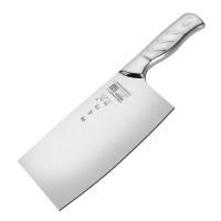 楼龙钢柄菜刀不锈钢家用厨房刀具切菜切肉切片刀斩骨刀斩切两用刀
